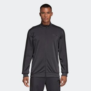 NWT Adidas Gray 3-Stripes Tricot Track Jacket, M